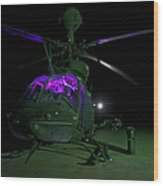 An Oh-58d Kiowa Helicopter At Cob Wood Print