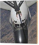 An Rc-135 Rivet Joint Reconnaissance Wood Print by Stocktrek Images