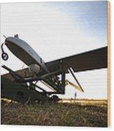 An Rq-7b Shadow Unmanned Aerial Vehicle Wood Print