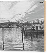 Anchor Inn Cove Wood Print