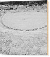 Ancient Site Of Roman Theatre At Salamis Famagusta Turkish Republic Of Northern Cyprus Trnc Wood Print