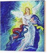Angel Of Joy Wood Print by Doris Blessington