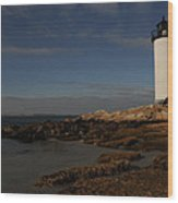 Annisquam Light Wood Print