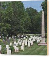 Anzac Cemetery In Harefield Churchyard Wood Print