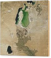 Aral Sea Wood Print by NASA / Science Source