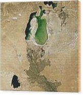 Aral Sea Wood Print