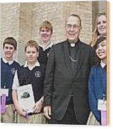 Archbishop Alex Brunett Wood Print
