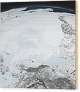 Arctic Sea Ice Wood Print