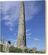 Ardmore Round Tower, Ardmore, Co Wood Print