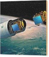 Ariane 5 Payload Deployment, Artwork Wood Print