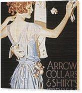 Arrow Shirt Collar Ad Wood Print