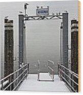 Ascona With Snow Wood Print