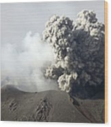 Ash Cloud Following Explosive Vulcanian Wood Print