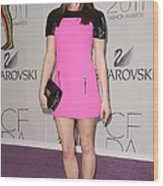 Ashley Greene At Arrivals For The 2011 Wood Print