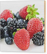 Assorted Fresh Berries Wood Print
