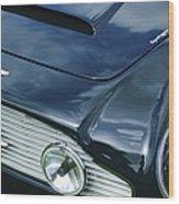 Aston Martin 1963 Aston Martin Db4 Series V Vintage Gt Grille Emblem -0140c Wood Print
