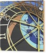 Astronomical Clock, Artwork Wood Print