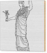 Athena, Greek Goddess Wood Print by Photo Researchers