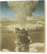 Atomic Bombing Of Nagasaki Wood Print by Omikron