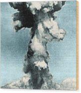 Atomic Bombing Of Nagasaki Wood Print