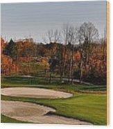 Autumn Golfing  Wood Print