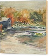 Autumn Morning At The Cove Wood Print