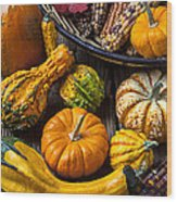 Autumn Still Life Wood Print