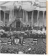 B. Harrison Inauguration Wood Print