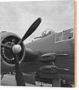 B25 Bomber Wood Print
