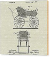 Baby Carriage 1886 Patent Art Wood Print