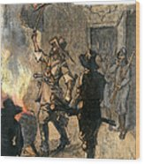 Bacons Rebellion, 1676 Wood Print