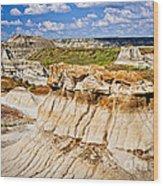 Badlands In Alberta Wood Print