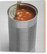 Baked Beans In A Can Wood Print