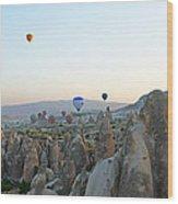 Balloon Ride Wood Print
