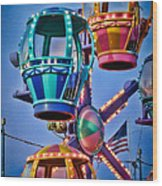 Balloon Ride No. 5 Wood Print by Colleen Kammerer