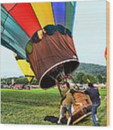 Balloonist - Ready For Takeoff Wood Print