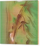 Bamboo After Rain Wood Print by Wendy Wiese