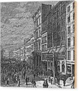 Bank Panic, 1873 Wood Print