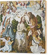Baptism Of Christ Wood Print