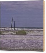 Barnacle Bill's Pier Remnants Wood Print