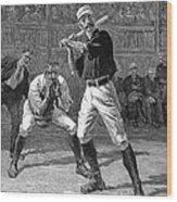 Baseball, 1888 Wood Print