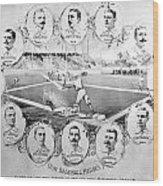 Baseball, 1895 Wood Print