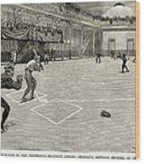 Baseball: Brooklyn, 1890 Wood Print