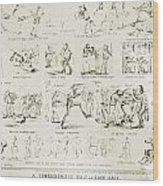 Baseball Cartoons, 1859 Wood Print