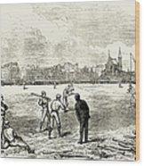 Baseball: England, 1874 Wood Print