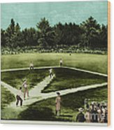 Baseball In 1846 Wood Print by Omikron