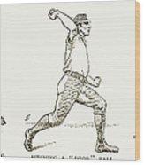 Baseball Pitching, 1889 Wood Print