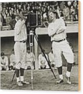 Baseball Players, 1920s Wood Print