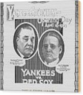 Baseball Program, 1923 Wood Print
