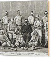 Baseball: Providence, 1882 Wood Print